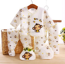 Monkey Printing Thick Newborn Baby Clothes