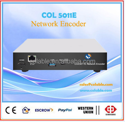 HLS MPEG 4 AVC/H.264 hd Http live streaming ip network video encoder COL5011E