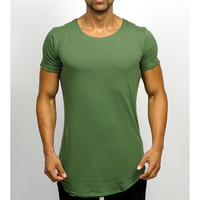 Good quality best sell o neck plain t shirt fitness t shirt printing asia sports wear China supplier