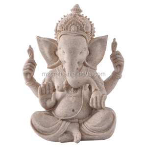 Lucky Indian elephant buddha statue wedding gifts resin crafts 14375-2