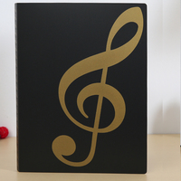Music Shape Stationery PP File Decoration With School File For Promotion