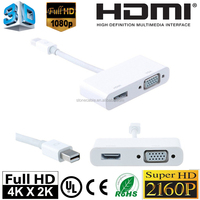 2 in 1 Mini Displayport to HDMI VGA Cable Adapter for Apple Macbook Macbook Pro iMac