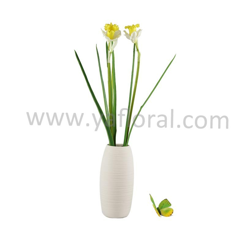 single stem yellow classical artificial real touch Daffodils silk daffodil
