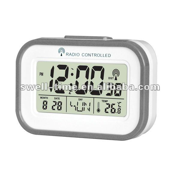 Multi table radio controlled time alarm clock meet CE and RoHS best for Chrismas gift