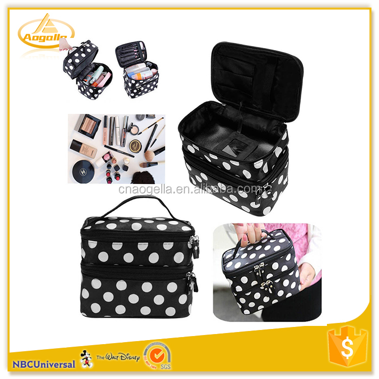 Promotion cheap makeup artist organizer bag set