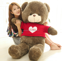 XH Cute design custom stuffed name giant teddy bear 60-180cm Sweater hug bear Children plush toy plush stuffed toy