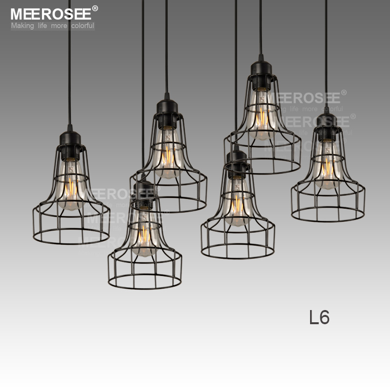 Industrial Pendant Dining Light Vintage Black Pendant Lamp MD81676