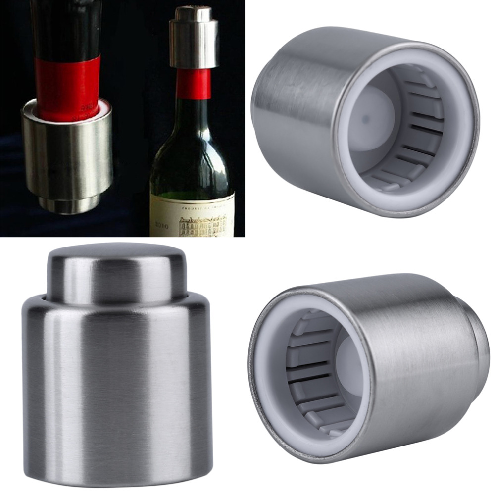 Hot Sale Stainless Steel Vacuum Sealed Red <strong>Wine</strong> Bottle Spout Liquor Flow Stopper Pour Cap Bottle Plug Practical Kitchen Tools