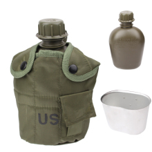 Chinese factory 3 in 1 1L US Army Military Outdoor Water Bottle Drinking Container with Canteen & Nylon Carrying Pouch