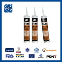 Cure fast acetoxy glass shelves sealant