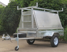 trailer tradesman top,with tool shelf,utility aluminum trailer toolbox