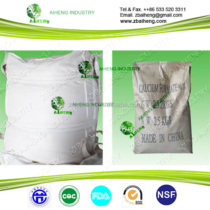 construction use china high quality feed grade 98 industrial grade feed addtitives 98% price food additives calcium formate