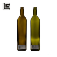 750ml luxury empty cooking olive oil marasca glass bottle with pourer