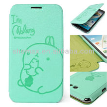 For Galaxy Note 2 II Cute Rabbit Flip Cover Leather Case Protector Card For SamSung N7100