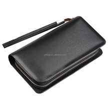 Mens Soft PU Leather Zipper Wallet Long Wallet Purse