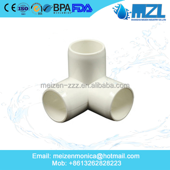 MZL China industry Manufacturing Price List Plastic Upvc Pvc 3 way Elbow Pipe Fittings
