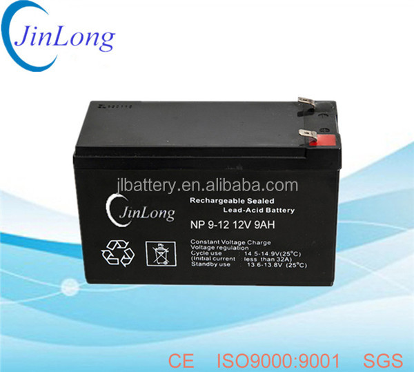 12v 9ah rechargeable ups vrla battery with long service life
