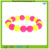 Colorful mini round ball shaped silicone rubber beads for jewelry