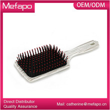 Custom Logo Cheap Mens Plastic Hair Brushes Plastic Bristle Hair Brush