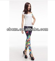 C60337A MOSTLY EUROPEAN LIKES HOT STYLE FASHION LYDIE PRINTING LEGGINGS