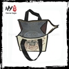 Small cheap lunch bag, bottle wine cooler tote bag, nonwoven cooler bag with hole