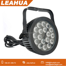 Outdoor led lights waterproof 18*18w rgbwa-uv led pars lighting 6in1