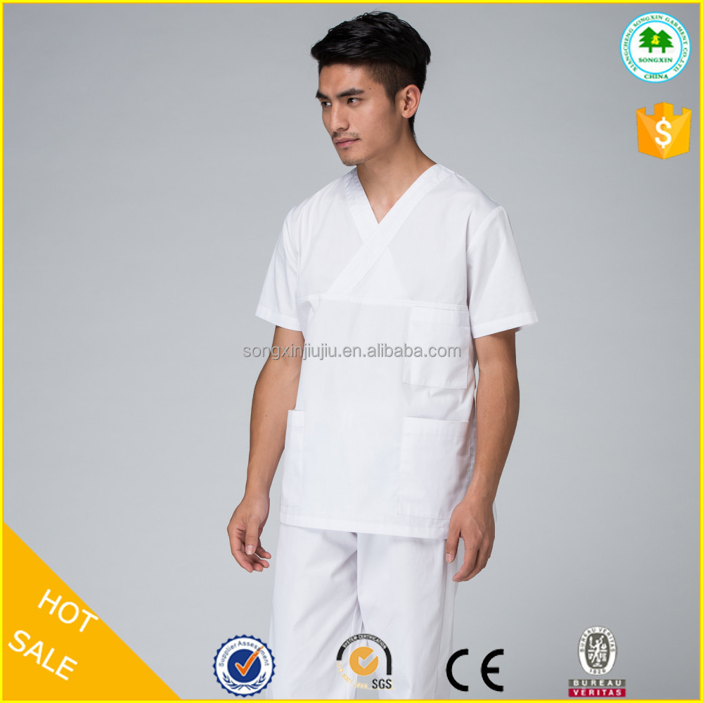 White V-NECK hospital clothes for nurses wholesale
