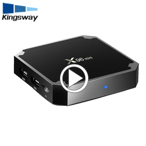 Most popular set top box X96 2GB + 16GB quad core Android 7.1.2 wifi TV box 1+8gb preinstalled KD <strong>Player</strong>