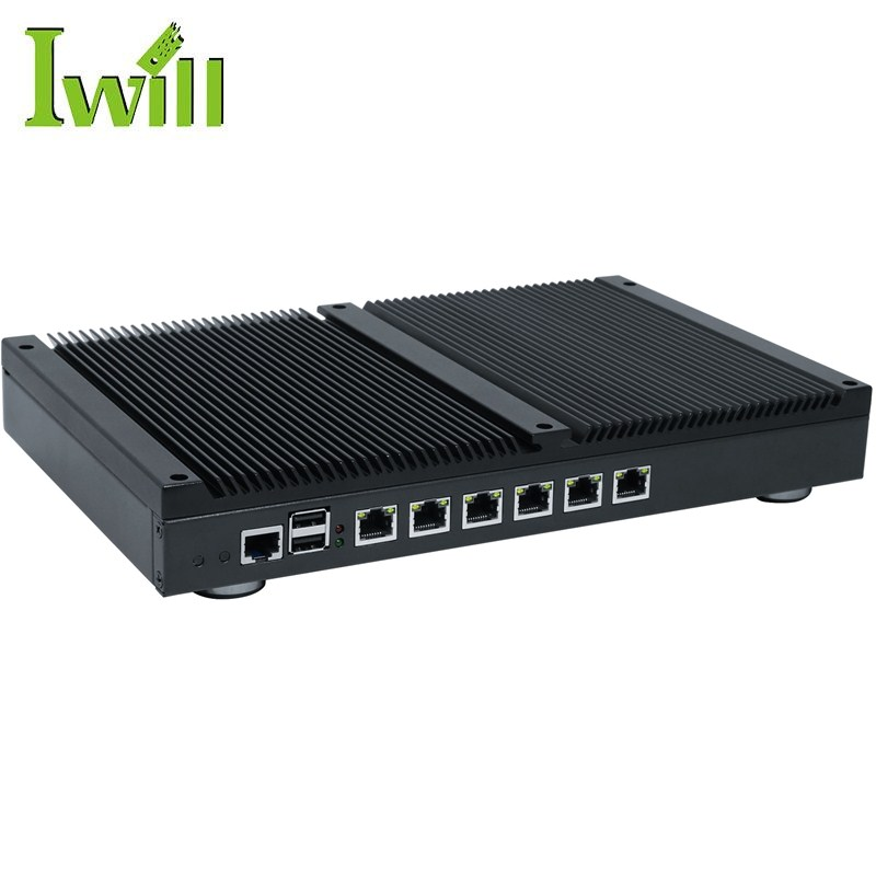 New 6 lan firewall hardware NS-1U6L fanless 1037U mini pc fanless multi lan