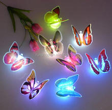 Home Room Party Desk Wall Decor Lamp Colorful Changing Butterfly LED Night Light