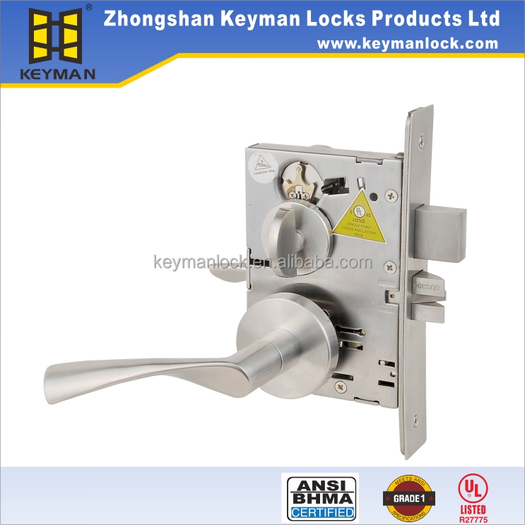 UL Listed Safes Mortise Door Lock For Hotel,With Solid Lever Handle