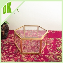 Custom fashion decorative gift wedding dress storage box^^^Home decorative glass denture storage box