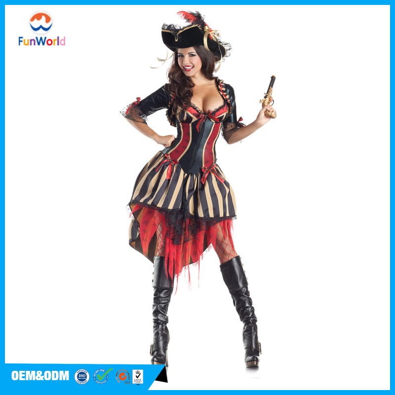 woman sexy Adult Pirate Body Shaper halloween party costume