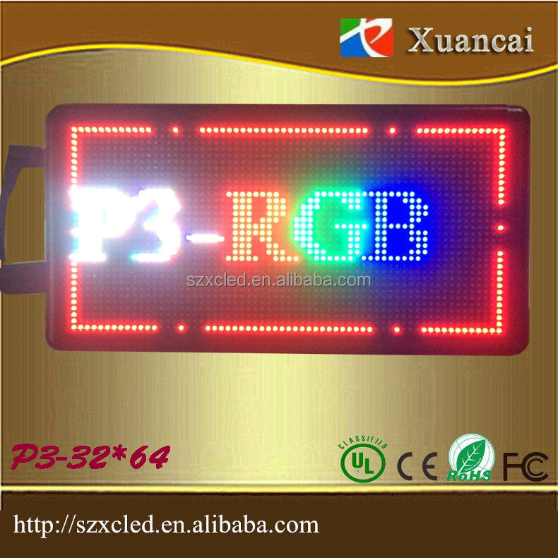 RGB high resolution LED programmable DIY logo 16 scan PH3mm-32*64 full color module