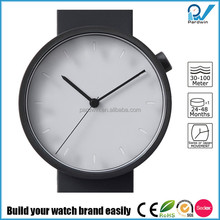 Newest design pvd black stainless steel case sapphire glass alabaster dial japan movt wrist watch
