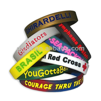 colorful silicone filled bracelets 2015 best selling silicone wristbands