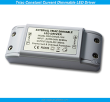 CC 10w triac dimmable led driver compatible with leading & trailing edge dimmer