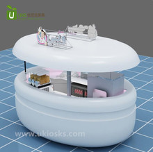 2017 newest ice cream kiosk , 3d ice cream kiosk design with ice cream machine for sale