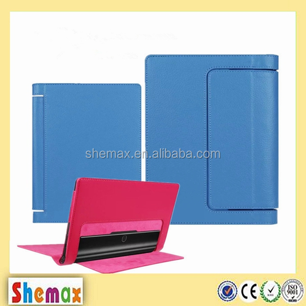 Litchi texture flip PU tablet case for lenovo yoga tab 3 850F