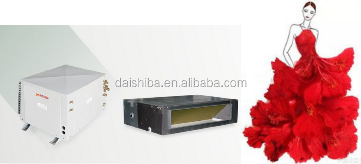 New style container type DC inverter split water to air heat pump air conditioner for hot and cold