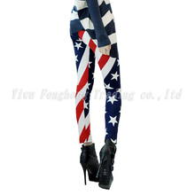 The new fashion 2015 American flag printed leggings