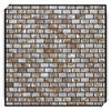 CP3007f 10*20mm chinese river shell brick pattern shell mosaic with mesh