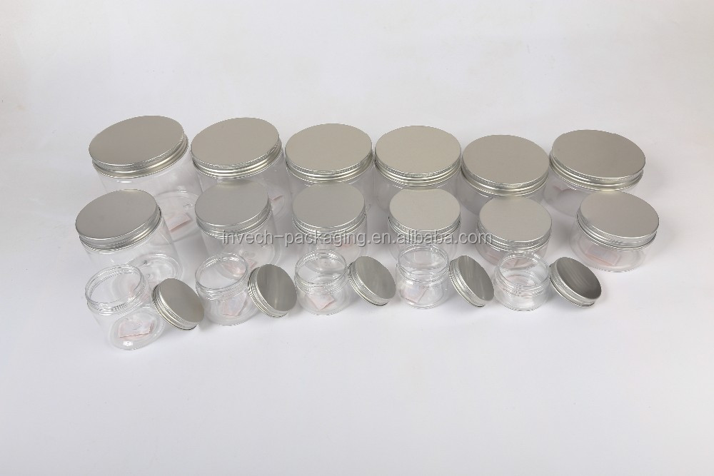 400ml,500ml,800g,1000ml PET Food Grade Plastic Jar with Metal Lid,Plastic Jar for Food Wholesale