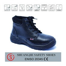 china best-selling NO.9285-1 steel toe cap top grain leather men rubber sole safety shoes