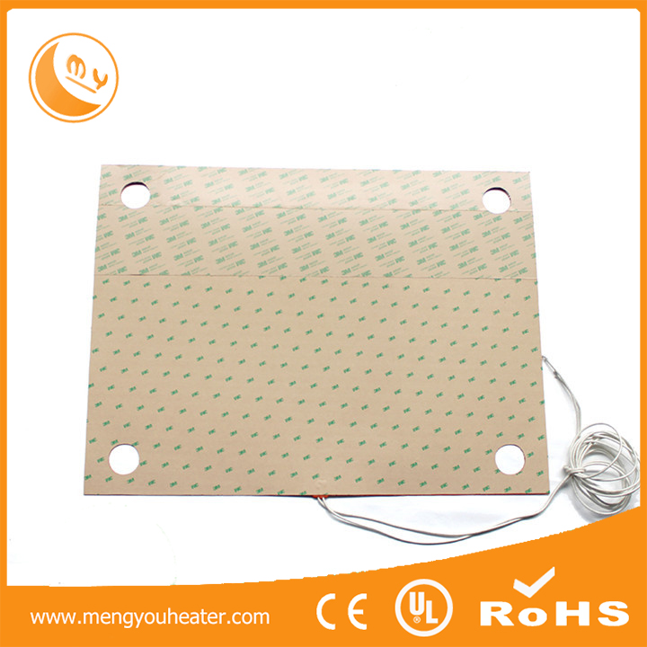 405*405mm 1800w high temperature silicone rubber heater