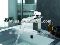 Single Handle Chrome finished brass body basin faucet tap mixer with cold and hot switch tap water mixer