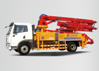 Linuo A8 most popular self loading concrete pump truck with concrete mixer