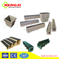 Heng ji EN1433 AS3996 drain polymer concrete channel / drainage channel galvanized steel grating