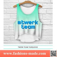 Girls Loose Turouoise Tank Top