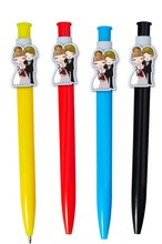 Colorful plastic personalized wedding pens with photos printed on pen